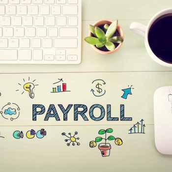 Payroll concept with workstation