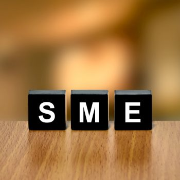 Sme Or Small And Medium-sized Enterprises On Black Block