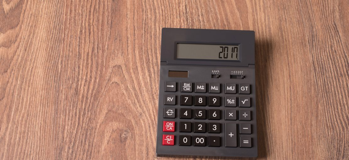 Calculator With The Word 2017 On The Display