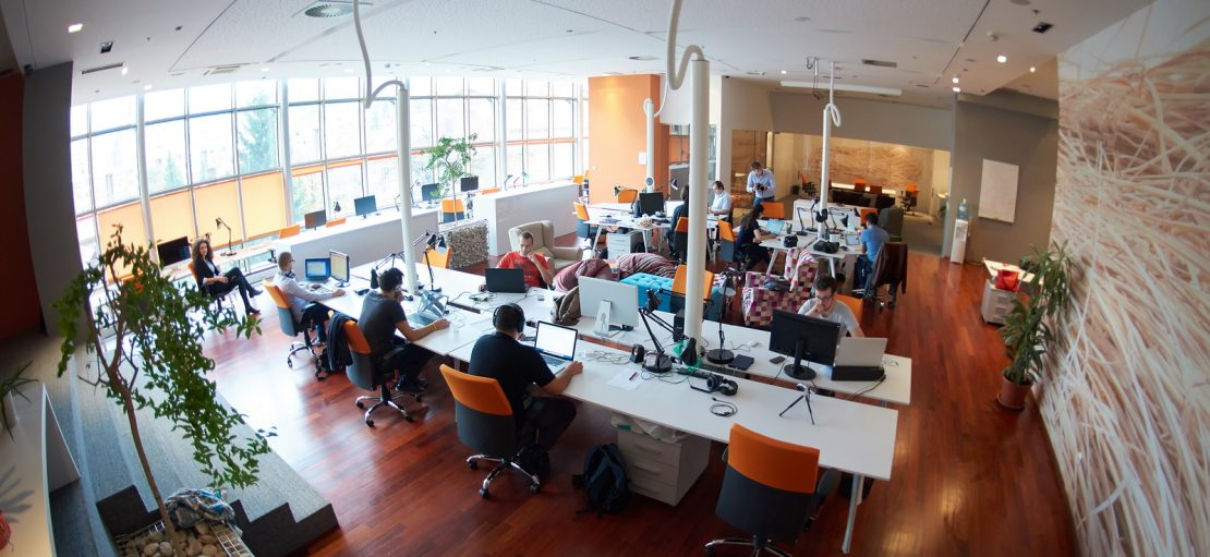 startup business people group working everyday job at modern of