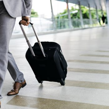 Businessmen Hold Luggage Business Trip