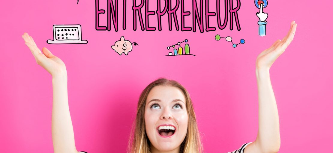 Entrepreneur Concept With Young Woman