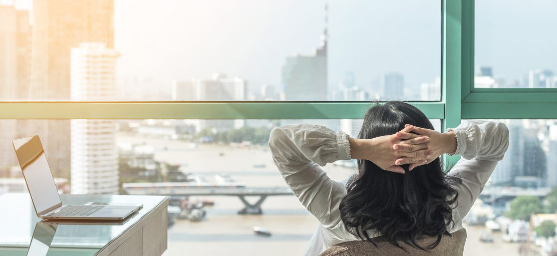1 in 4 Senior Workers Feel Less Support for Mental Health Life-work Balance And Carefree Mental Health Concept With Woman
